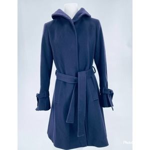 Elie Tahari Purple Wool Shawl Collar Coat 8